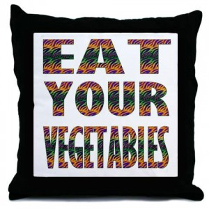 This pillow (and more) available from The Write Side Shop, and much more effective than a talking grocery cart.  Click the pic to order yours.