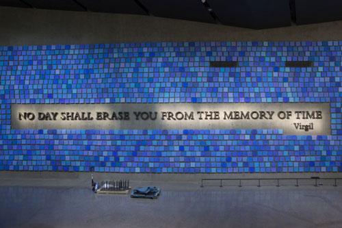 Inside the 9/11 Memorial.
