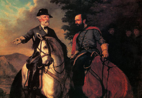 """From """"Lee and Jackson Last Meeting"""" by Everett B.D. Fabrino Julio (1843 - 1879)"""