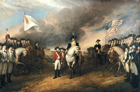 The painting Surrender of Lord Cornwallis by John Trumbull is on display in the Rotunda of the US Capitol.
