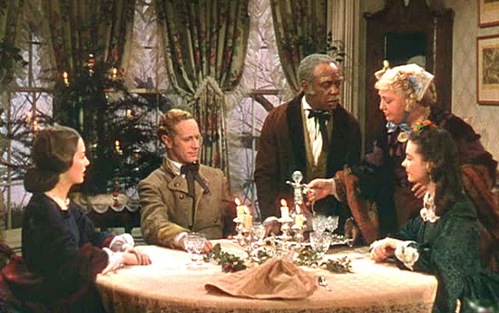 Ashley comes home from the War to celebrate Christmas around Aunt Pittypat's table in Atlanta.