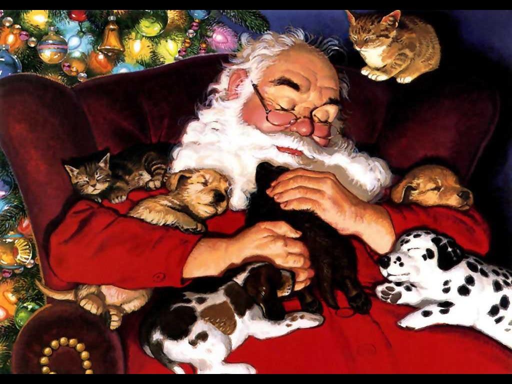 santa-claus-napping